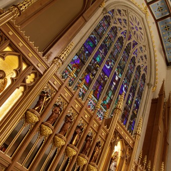 """cnc machine cnc programming cnc wood cnc woodcarving hand carving """" St Mikes CathTO cathedral TO Toronto cathedral traceries corbels tabernacles crosses paschal candle sacredmusicconcert massofappreciation massofredeication SMCC """""""