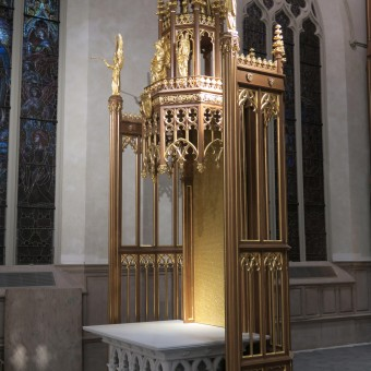 "wooden interiors wooden sclupture wood modeling wood working custom design carve carved wood carving "" St Mikes CathTO catholicTO St Michael Cathedral cathedral TO Toronto cathedral traceries corbels tabernacles crosses paschal candle church architecture architectural woodcarvings renovation sacredmusicconcert massofappreciation massofredeication SMCC """