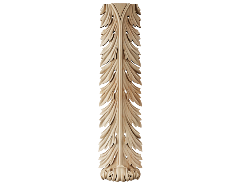 Applique Woodcarving Ornament Wood Customize Wooden Accent